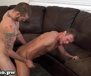 Jason licks ass friend Chris with a big dick .