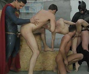 Batman V Superman : A Gay XXX Parody Part 3 - PHOTOS - Topher Dimaggio, trenton Ducati, Allen King, Massino Dario and Dario Beck - JO - Jizz Orgy