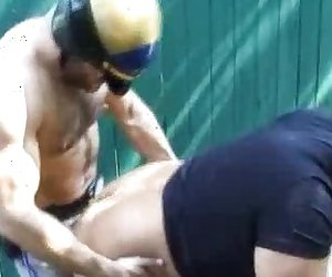 Horny Gay Bears In An Outdoor Anal