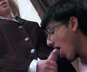 Walter and Rupert cockloving crossdresser on video
