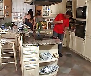 Busty Housewife - Fucked In Kitchen