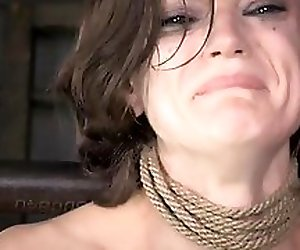 Busty girl screaming anal