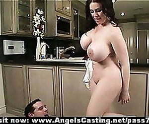 Busty brunette milf does blowjob and is fucked in pussy and asshole